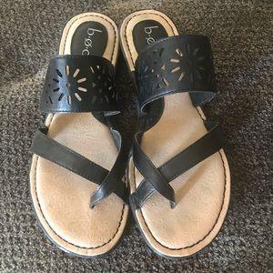 boc sandals in black sz 10